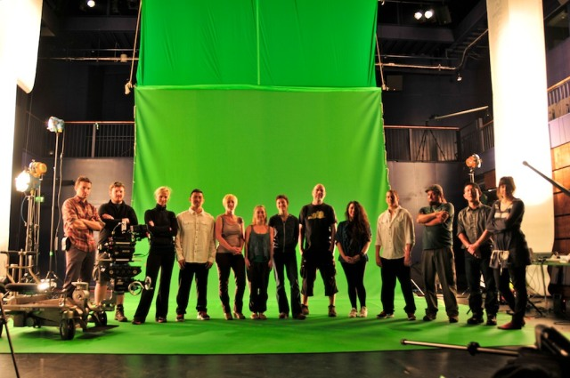 Key team members shot in the greenscreen studio at the Newport Riverfront Theatre.